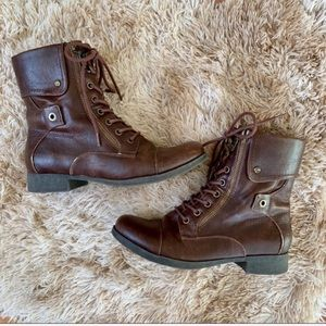 G by Guess Brown Moto Boots